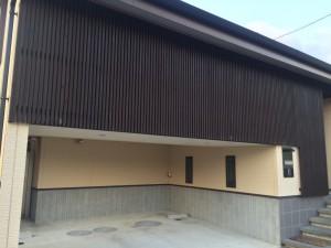 福岡県 粕屋郡 塗装工事 木格子塗装 完了