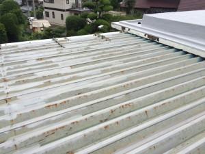 福岡市 南区 屋根 塗装工事 S様邸 錆転換塗布 完了