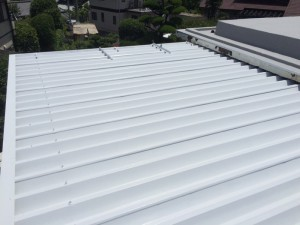 福岡市 南区 屋根 塗装工事 S様邸 上塗り1回目 完了