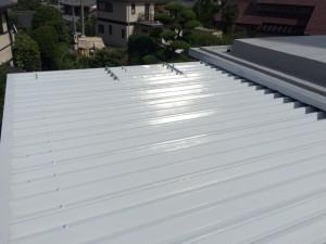 福岡市 南区 屋根 塗装工事 S様邸 上塗り2回目 完了