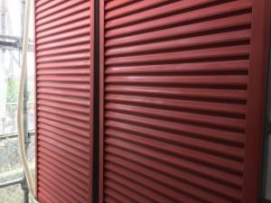筑紫野市 F様邸 塗装工事 雨戸下塗り 完了
