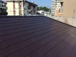 筑紫野市 F様邸 塗装工事 屋根 中塗り 完了