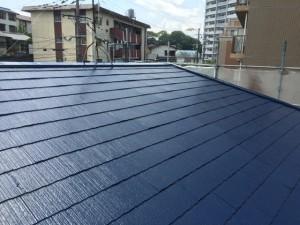 筑紫野市 F様邸 塗装工事 屋根 上塗り 完了