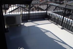 春日市 バジェットホテル バルコニー 防水工事 完了