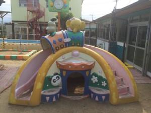 太宰府市 ちいさこべ幼稚園 塗装工事 遊具 施工前