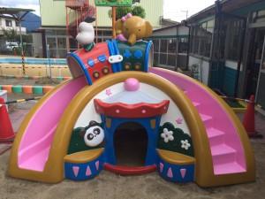太宰府市 ちいさこべ幼稚園 塗装工事 遊具 上塗り 完了