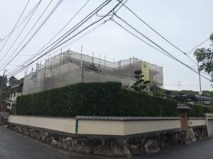 太宰府市 T様邸 塗装工事 足場仮設完了