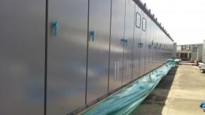 福岡市 博多区 塗装工事 センタープレイス 屋上キューピクル 上塗り 完了