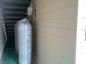 太宰府市 塗装工事 ロイヤル桜町 外壁 上塗り 完了