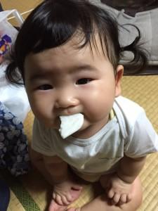 すーちゃん♡ 初めてのおやつ☆