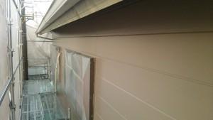 小郡市 塗装工事 N様邸 外壁上塗り 1回目完了