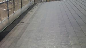大野城市 塗装工事 M歯科医院 屋根塗装 上塗り1回目完了