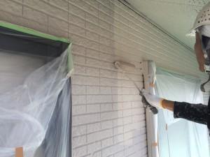 大野城市 塗装工事 M歯科医院 外壁上塗り