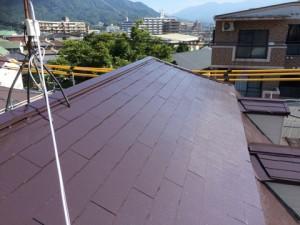 太宰府市 塗装工事 ロイヤル桜町 屋根塗装 完了