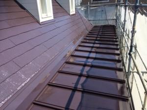 太宰府市 塗装工事 ロイヤル桜町 屋根瓦棒塗装 完了