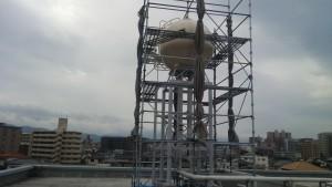 大野城市 Hビル 高架水槽 塗装工事 完了