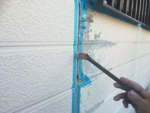 太宰府市 M様邸 塗装工事 シーリング撤去後 プライマー施工中