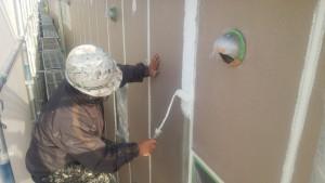 福岡市 博多区 FMT 塗装工事 下地肌合せ 施工中