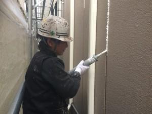 福岡市 博多区 塗装工事 FMT榎田 外壁 シーリング工事 施工中