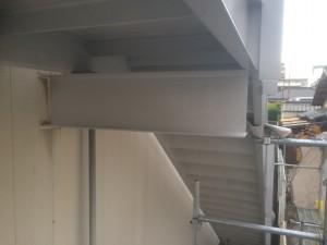 大野城市 塗装工事 岩田屋 階段塗装 下塗り 完了