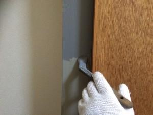 筑紫野市 K様邸 内部 塗装工事 木枠 ウレタン塗装 施工中