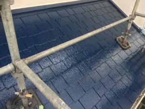 筑紫野市 塗装工事 H様邸 屋根塗装 上塗り2回目 完了