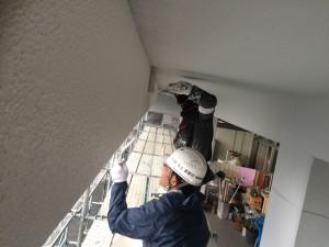 太宰府市 サンケア太宰府 大規模改修工事 塗装 施工中