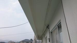太宰府市 塗装工事 こひつじ保育園 軒裏塗装 完了
