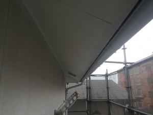 那珂川町 借家 塗装工事 軒裏 上塗り 2回目 完了