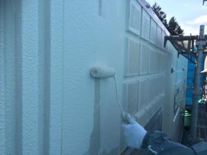 福岡市 早良区 徳栄寺 塗装工事 外壁塗装 上塗り1回目