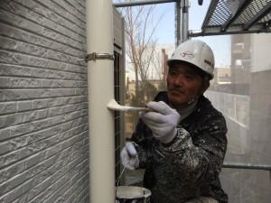 筑紫野市 塗装工事 美容室 樋塗装中