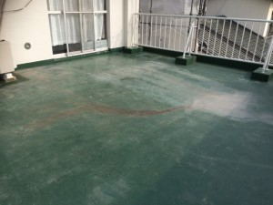 太宰府市 塗装工事 こひつじ保育園 バルコニー 塗装施工前