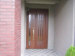 筑紫野市 K様邸 玄関ドア取替え工事 完了