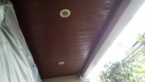 春日市 塗装工事 N様邸 軒裏 キシラ塗装 完了
