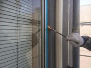 筑紫野市 塗装工事 大和ビル ALC外壁 シーリング 工事 プライマー施工中