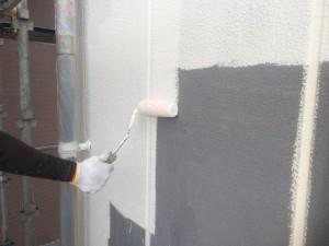筑紫野市 大和ビル 塗装工事 外壁 下塗り