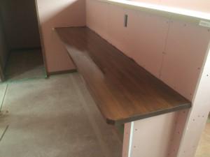 福岡市 東区 新築 内部 塗装工事 カウンター 完了