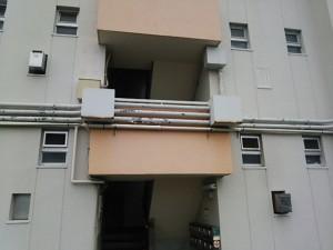 大野城市 塗装工事 リバーサイドシブタ 配管塗装 施工前