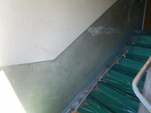 大野城市 塗装工事 Rマンション 配管 塗装工事 腰壁塗装 施工前