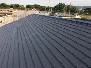 大野城市 塗装工事 Sアパート 屋根塗装 中塗り 完了