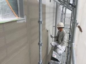 福岡市 中央区 天神荘ビル 塗装工事 外壁塗装 施工中☆