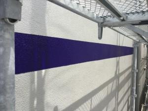 福岡市 中央区 天神荘ビル 塗装工事 外壁ライン塗装 完了☆