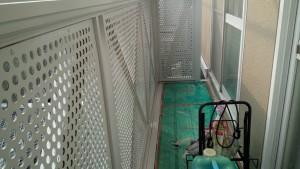 大野城市 塗装工事 Sアパート ベランダ手摺塗装 完了