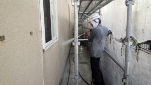大野城市 塗装工事 Sアパート 外壁塗装 高圧洗浄