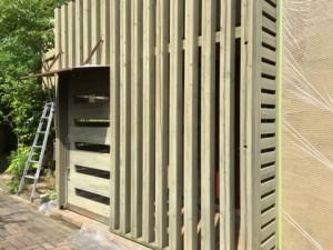 福岡県 糸島市 塗装工事 雷山の森 別荘 木部塗装 施工前