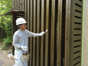 福岡県 糸島市 塗装工事 雷山の森 別荘 木部塗装 2回目