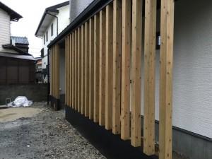 大野城市 S様邸 新築 塗装工事 柱 塗装 完了