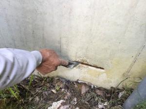 福岡県 糸島市 塗装工事 雷山の森 別荘 爆裂下地処理 防錆剤塗布