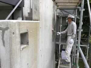 福岡県 糸島市 塗装工事 雷山の森 別荘 爆裂下地処理 ミクロンガード2回目