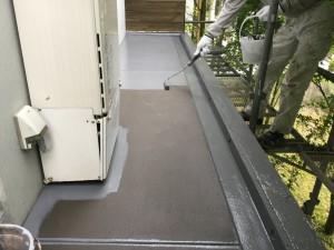 福岡県 糸島市 塗装工事 雷山の森 別荘 庇 防水 トップコート仕上げ